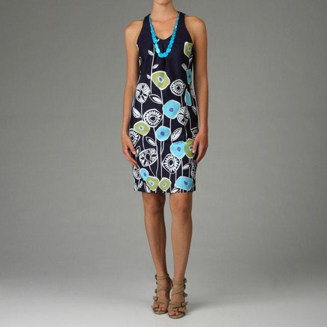 110 West Womens Floral Print Cotton Dress