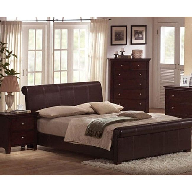 Milano Brown 3 Piece Cherry Bedroom Collection Free Shipping Today