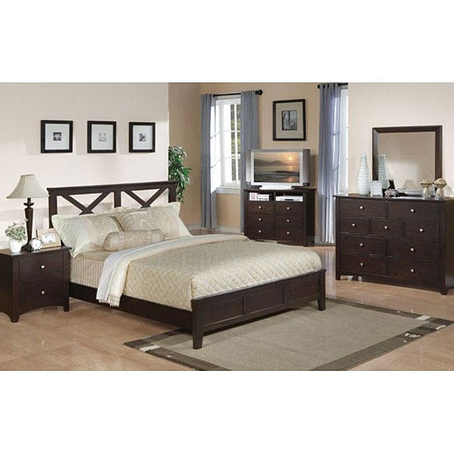 cross bar 5 piece queen bedroom set free shipping today