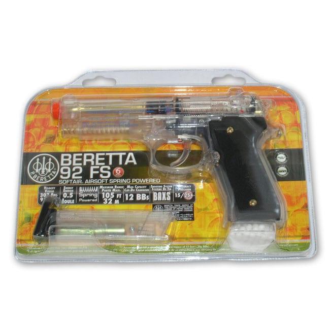 Airsoft Clear Beretta 92FS Spring Pistol 7041