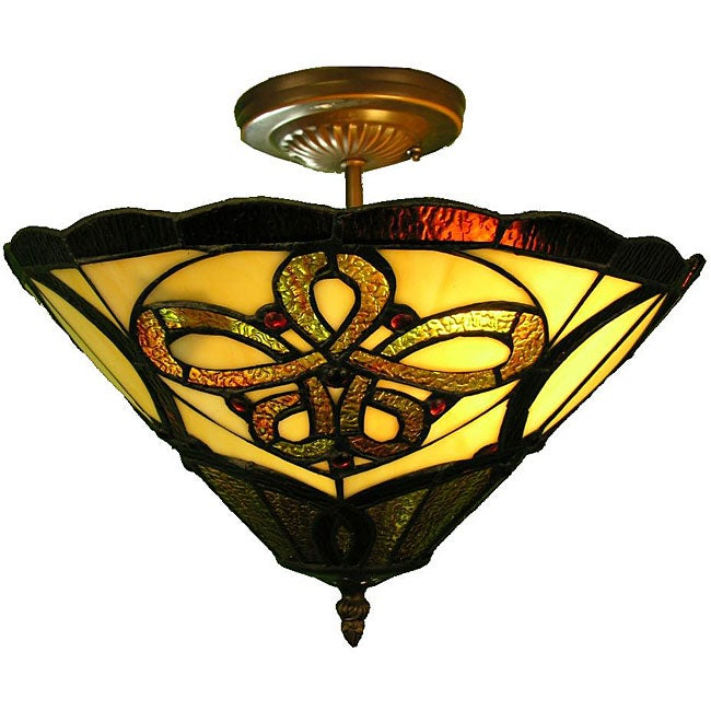 Tiffany-style Majestic Ceiling Fixture