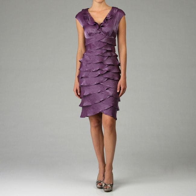 London Times Women S Purple Shutter Pleat Dress Free Shipping Today 4685873