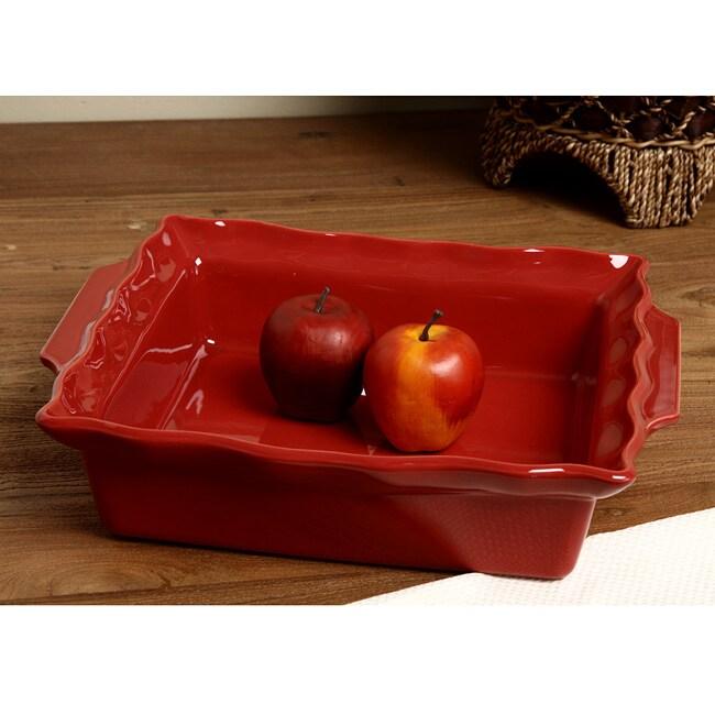 Appolia Esprit De Cuisine Red Currant Ceramic Bakeware
