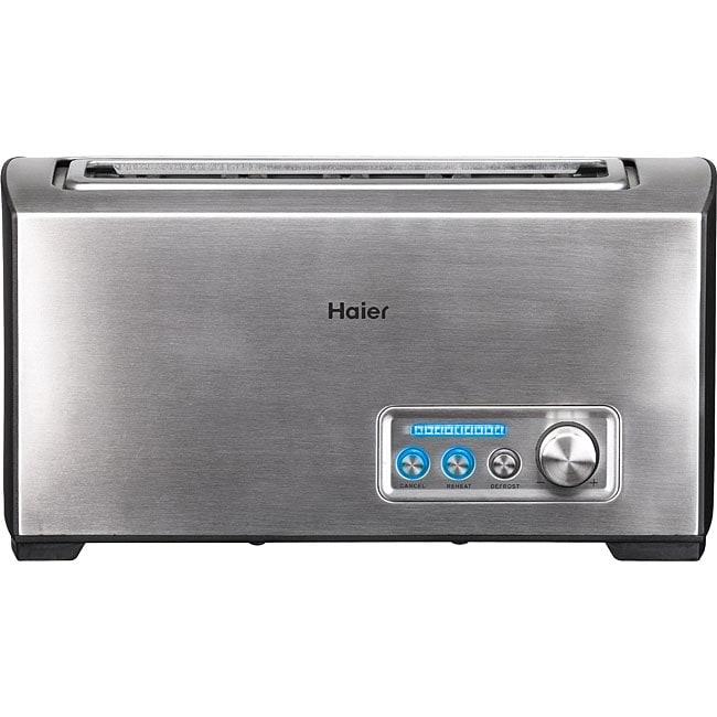 Haier TST120SS Stainless Steel Long Slot Digital Toaster