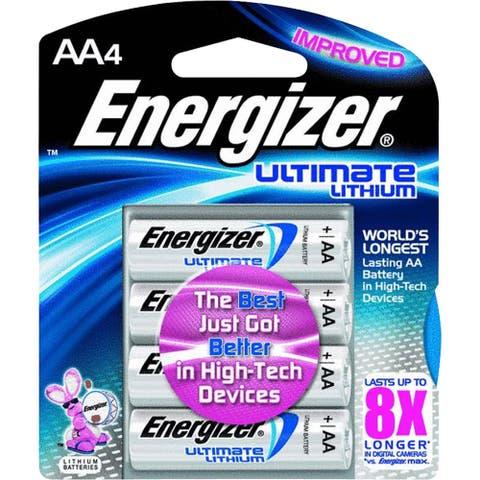 Energizer Ulitmate Lithium AA Battery, 4pk