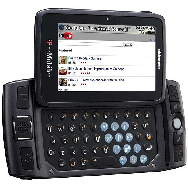 shop t mobile sidekick lx 2009 carbon cell phone free shipping rh overstock com