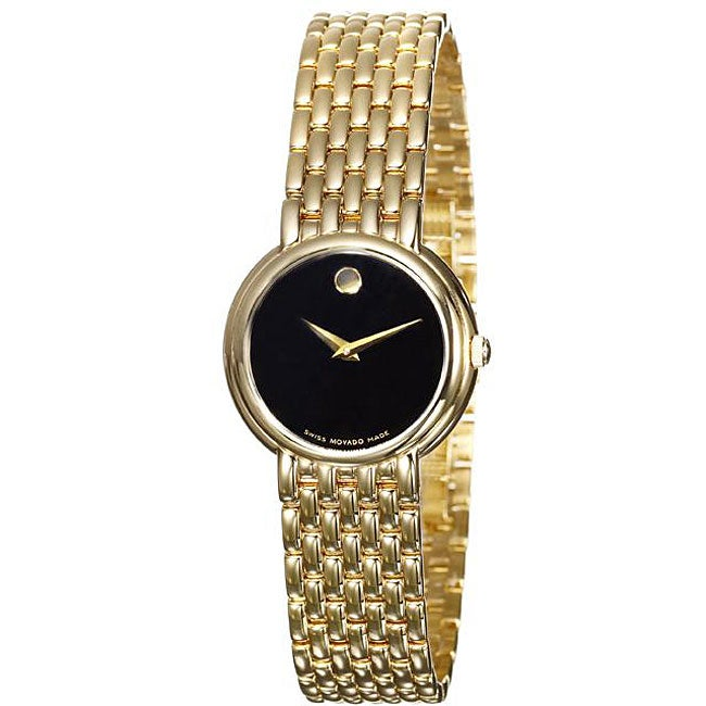 movado s certa gold plated steel free