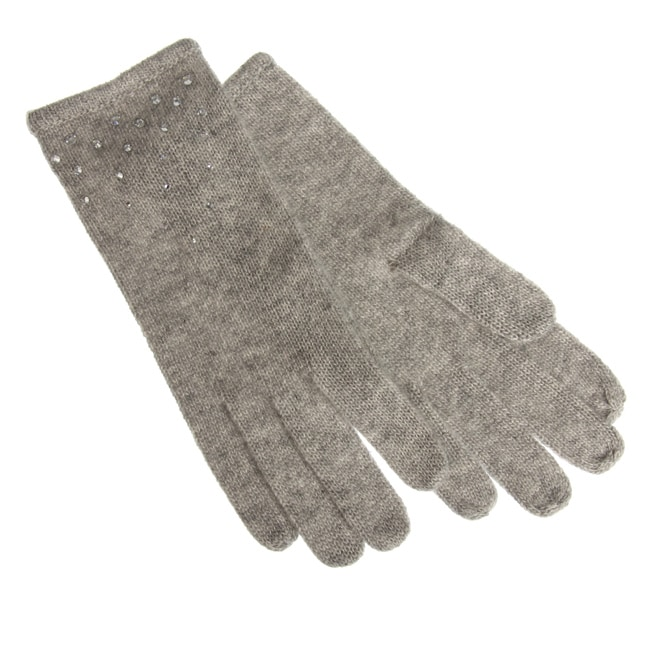 Portolano Women's Cashmere Gloves with Swarovski Crystals