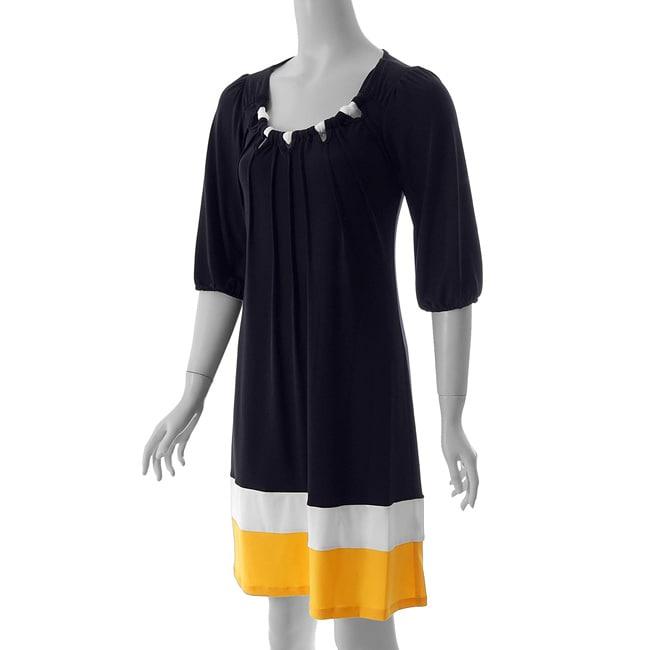 Sangria Women's Scoop Neck Colorblock Dress