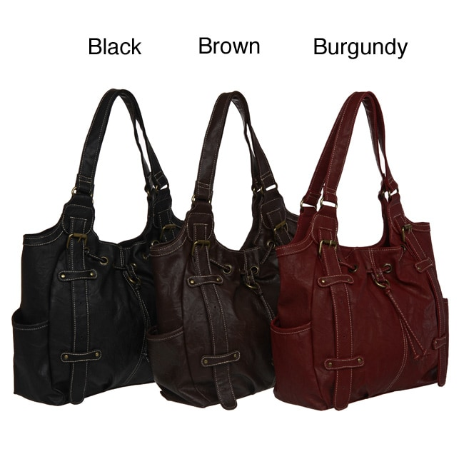 Frankie Johnnie Faux Leather Tote