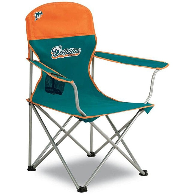 Shop Miami Dolphins Folding Arm Chair Free Shipping On