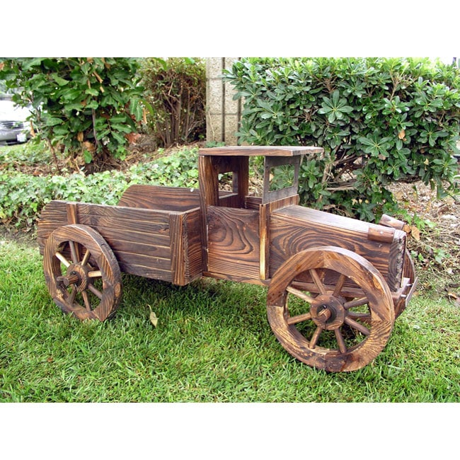 Shop Handcrafted Cedar Wood Large Decorative Truck Planter