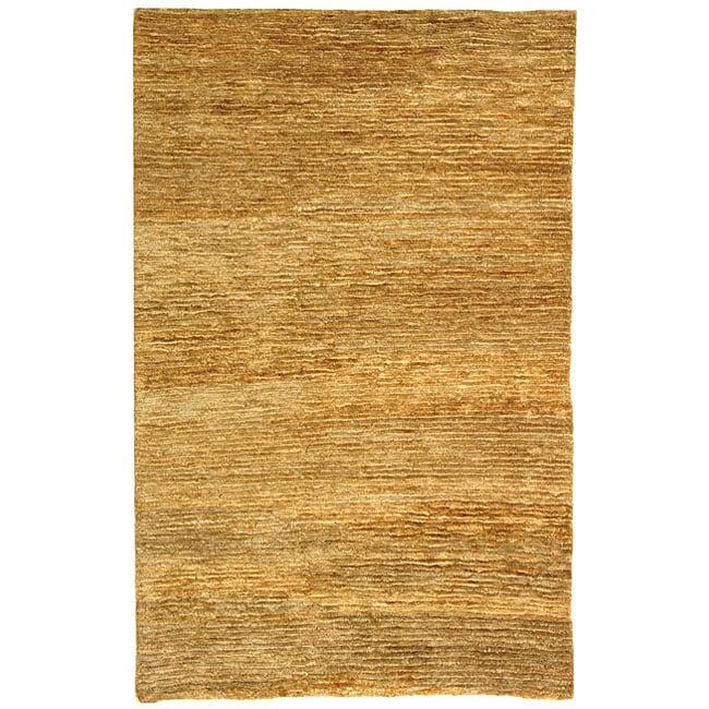 Safavieh Hand-knotted All-Natural Hayfield Beige Hemp Rug (3' x 5')