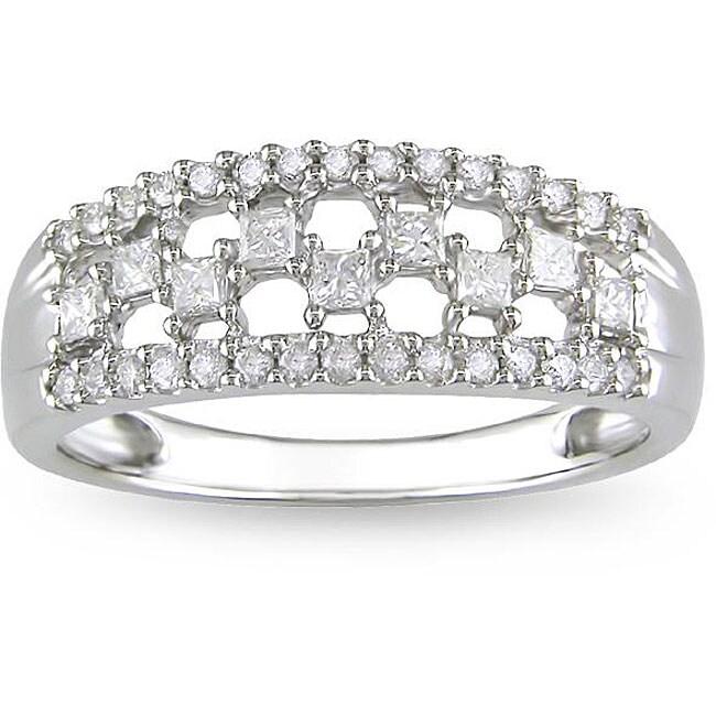 10k White Gold 1/2ct TDW Diamond Ring