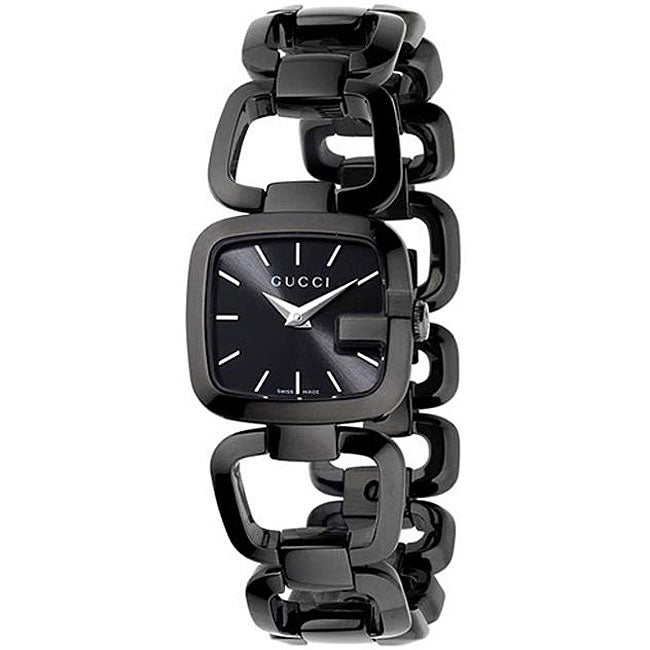 edb4d68f83f Shop Gucci Women s YA125504  G-Gucci  Small Black IP Stainless Steel Bracelet  Watch - Free Shipping Today - Overstock - 4705907