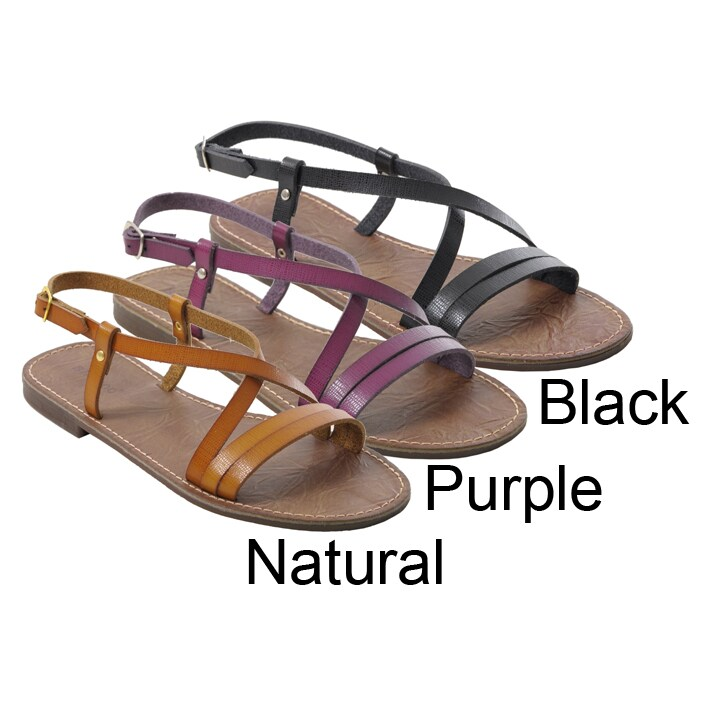 Bamboo by Journee Women's Strappy Flat Sandals