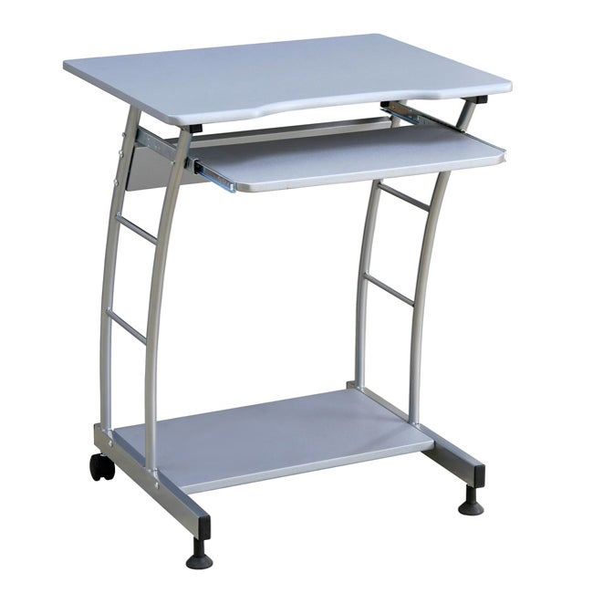 Silver 29-inch Computer Cart