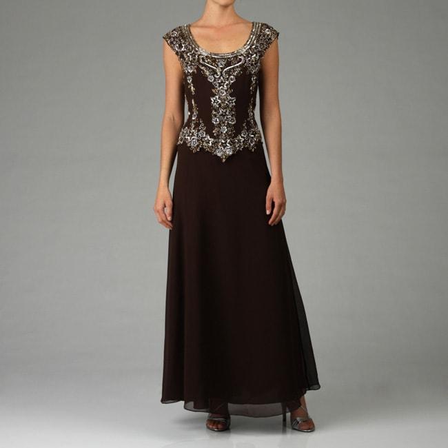 Shop J Kara Women\'s Beaded Cap Sleeve Gown - Free Shipping Today ...