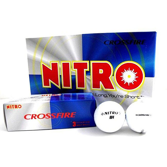 Nitro Crossfire White Golf Balls (3 Packs of 15 Balls)