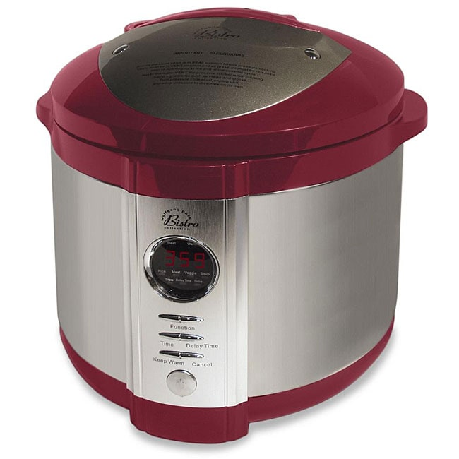 Wolfgang Puck Electric 5-quart Red Pressure Cooker with WP Recipes (Refurbished)