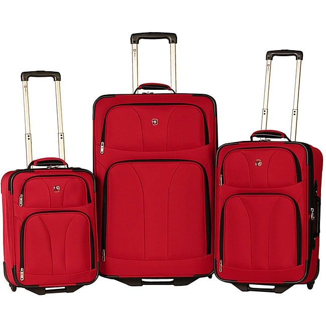 060d3a0a4 Shop Wenger Swiss Army Red 3-piece SwissGear Luggage Set - Free Shipping  Today - Overstock - 4709635