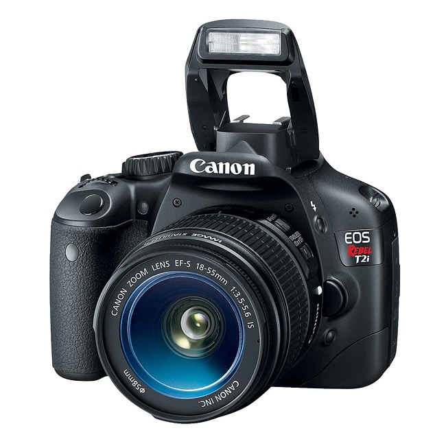 shop canon eos rebel t2i ef s 18 55mm is digital slr camera kit rh overstock com Canon EOS Rebel T21 Canon EOS Rebel T3i