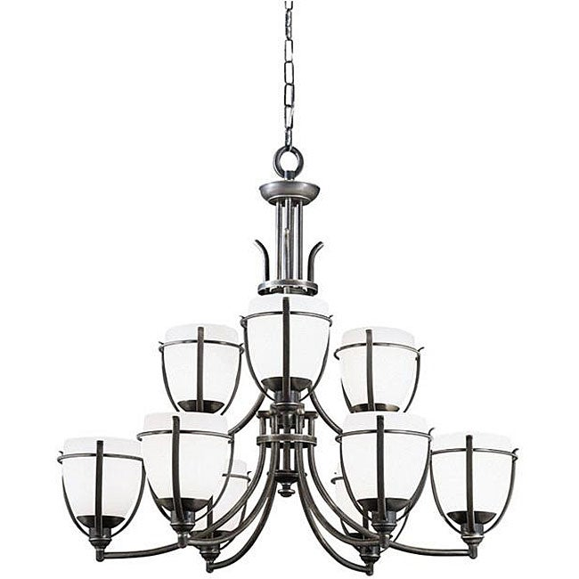 Regency 9-light Bronze Chandelier