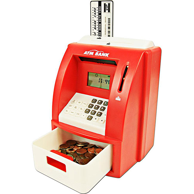Red ATM Toy Bank With ATM Card