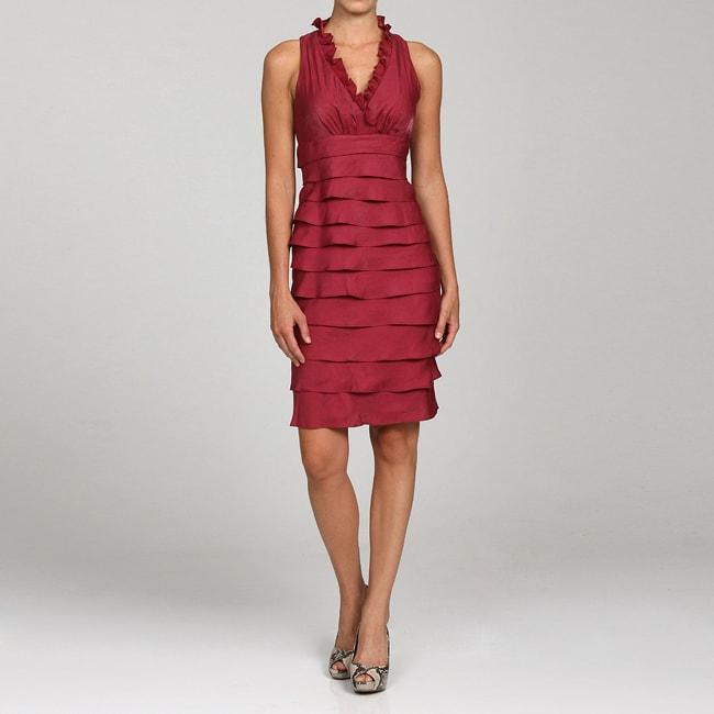 London Times Women S Ruffled Shutter Pleat Dress Free Shipping On Orders Over 45 4714717