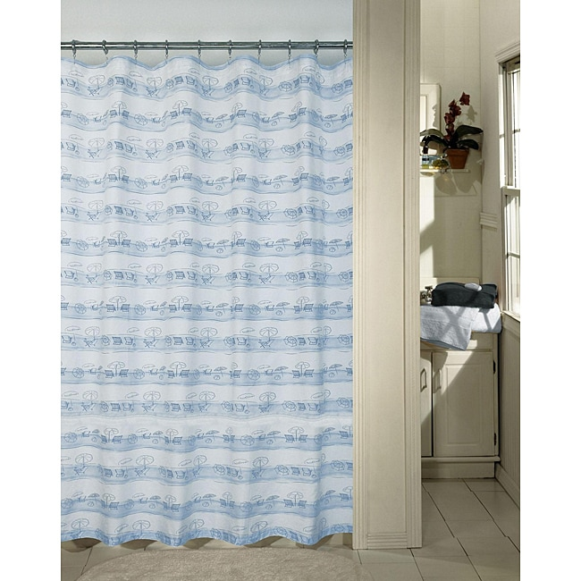 Curtains Ideas beach shower curtain : Blue Beach Shower Curtain - Free Shipping On Orders Over $45 ...