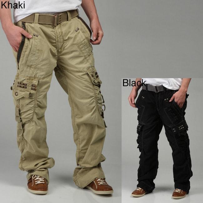 Kanji Men S Belted Cargo Pants Free Shipping Today