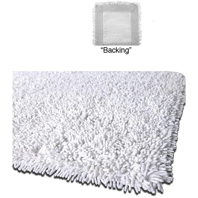 Handmade Shaggy White Premium Cotton Rug (5' x 8')