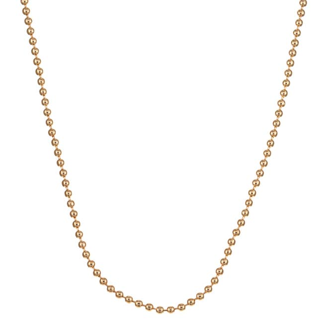 Caribe 14k Gold over Silver 18-inch Ball Chain (2 mm)