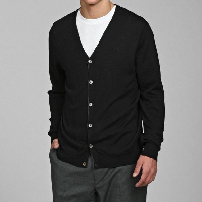 Ch Classics Men 39 S 100 Percent Merino Wool Cardigan Free
