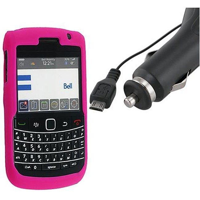 Silicone Case/ Car Charger for BlackBerry 9700