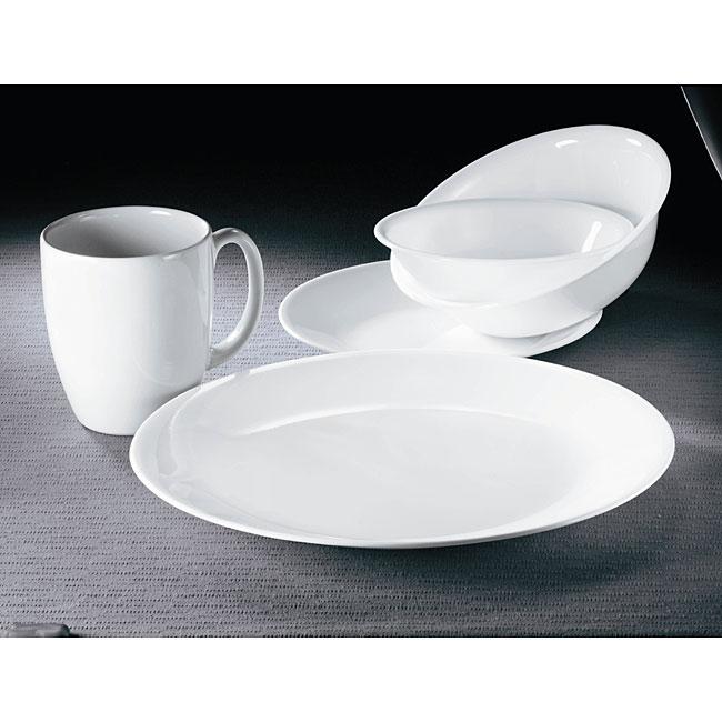 Corelle 'Winter Frost White' 30-piece Vitrelle Dinnerware Set