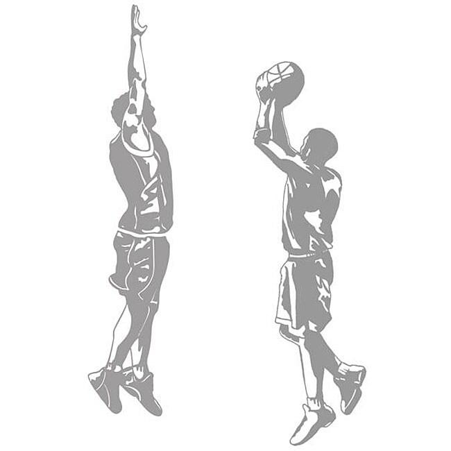 Basketball Jumpshot and Blocker Sudden Shadows Wall Decal