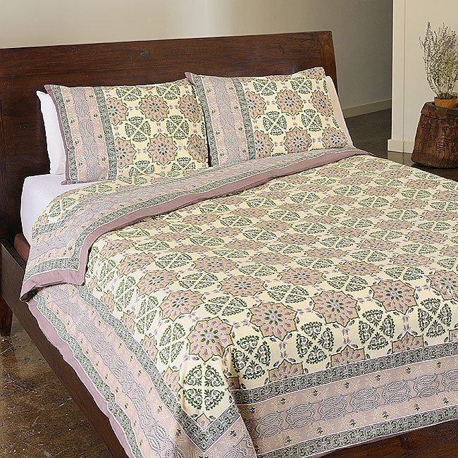 Sodhi Kalamkari King 3-piece Cotton Duvet Set (India)