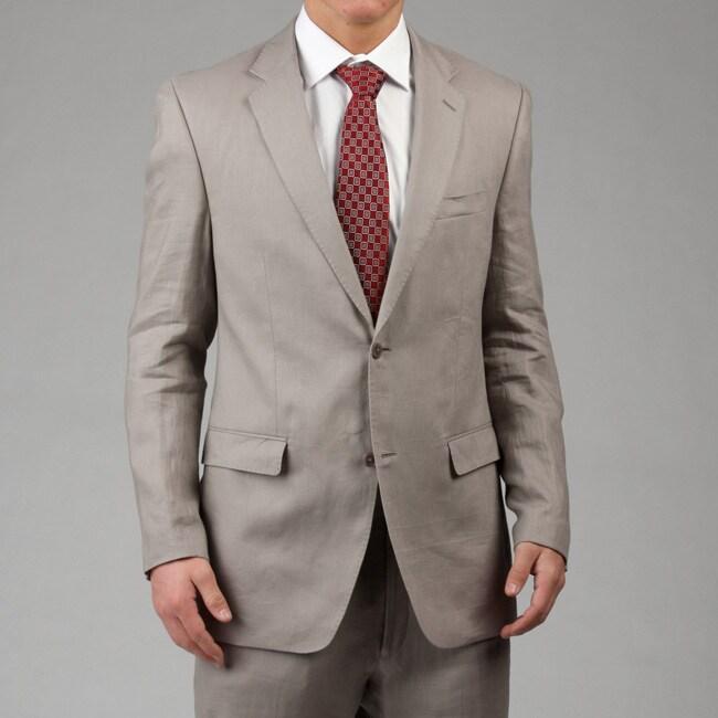 Calvin Klein Men's 2-button Linen Suit