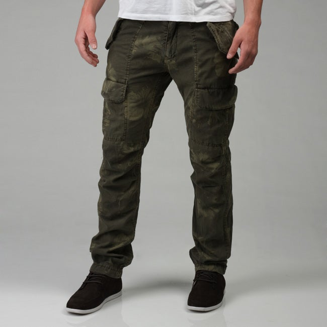 9c365aa992 Shop Z Brand Men's Cargo Pocket Twill Pants - Free Shipping On Orders Over  $45 - Overstock - 4737009