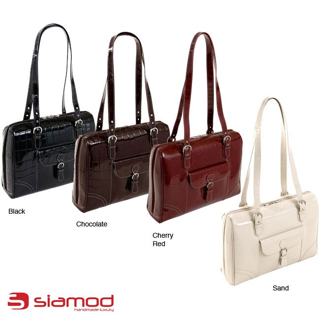 Siamod Women's 'Molinelli' Leather Laptop Tote Bag