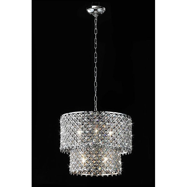 Chrome Crystal 8 Light Double Round Chandelier Free