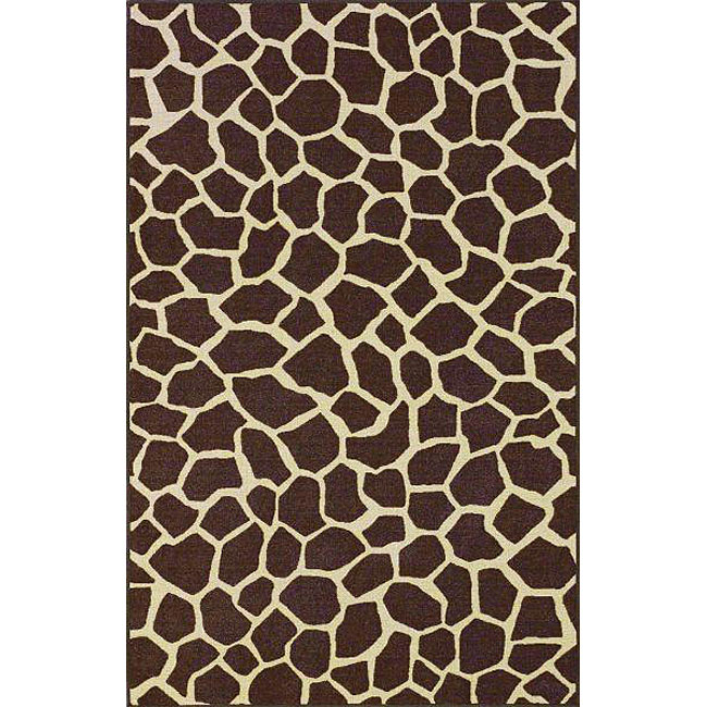 nuLOOM Infiniti Collection Giraffe Animal Print Brown Rug (6'7 x 9'2)
