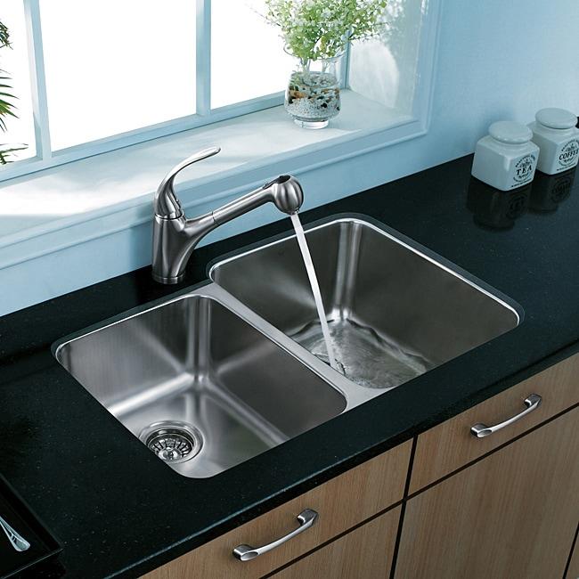 VIGO Undermount Stainless Steel Kitchen Sink and Faucet