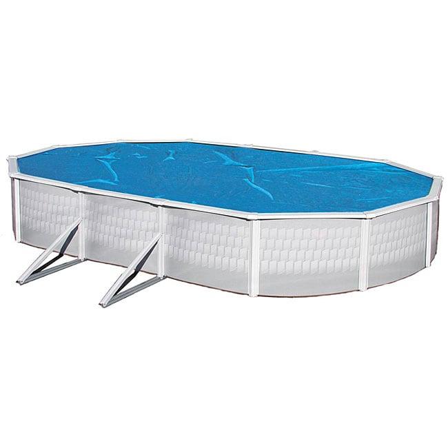 Blue Wave 15 ft. x 30 ft. Oval 8-mil Solar Blanket for Above Ground Pools - Blue