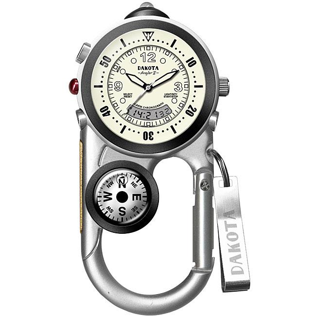Dakota Men's 'Angler II' Analog/ Digital Carabiner Watch