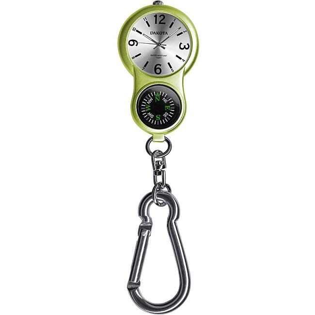 Dakota Women's 'E-Clip' Lime Green Carabiner Watch