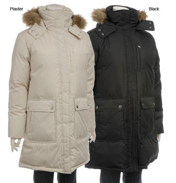 d21ef86ff8c Shop DKNY Women s Plus Size Hooded Down Parka - Free Shipping Today -  Overstock - 4745677