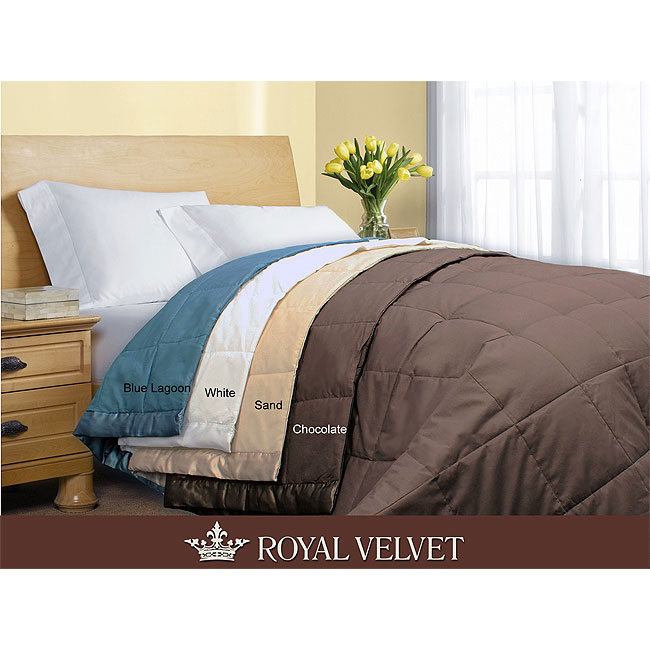 Royal velvet 250 thread count down alternative blanket for Overstock free returns