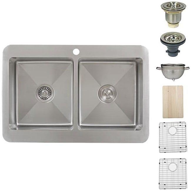Ticor Royale Stainless Steel 16-gauge Overmount Kitchen Sink